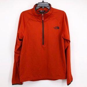 THE NORTH FACE Orange Half Zip Pull Over Fleece